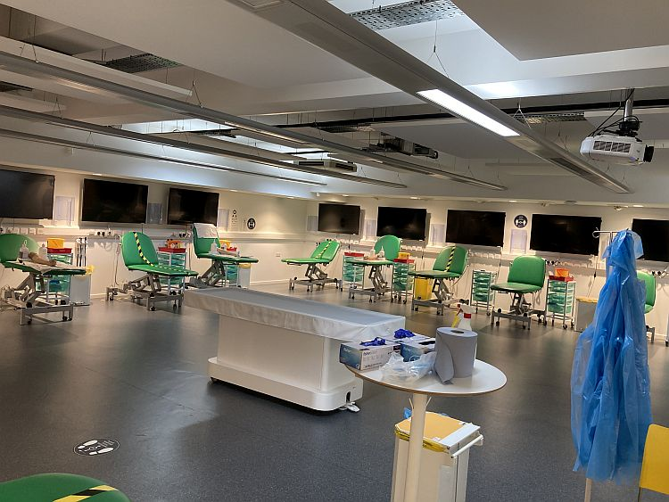 Clinical training room at Wolverhampton University