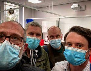 Associate Clinical Educators Bob Spour, Greg Hobbes, Mark Reynolds at The University of Chester