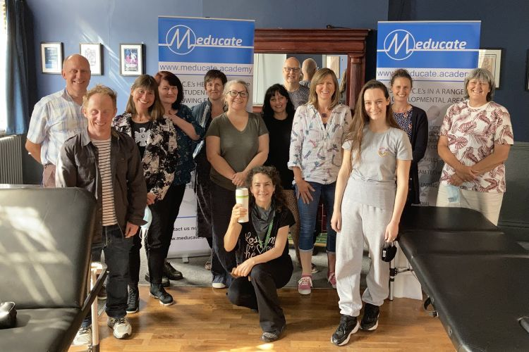 Group image of ACEs at Meducate Academy's first training day