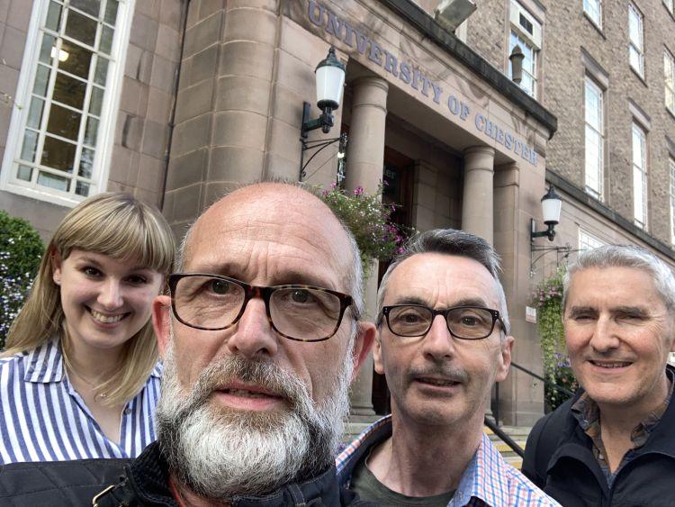 Associate Clinical Educators Vikki, Bob, Howard and Gregg at Chester University